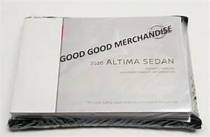 2020 Nissan Altima Owners Manual Sr Sl Platinum Sv S I4 2