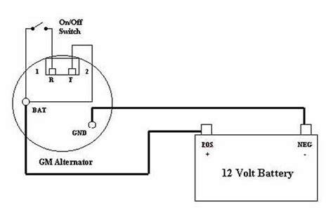 Delco Alternator Wiring Diagram Terminal 3 Cs130 Alternator Wiring