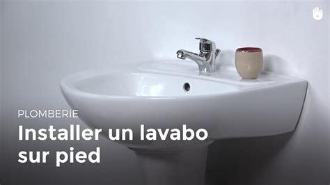 lavabo sur pied installer un lavabo sur pied bricolage