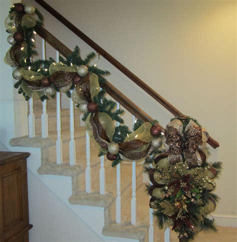 christmas stair garland ideas  pinterest