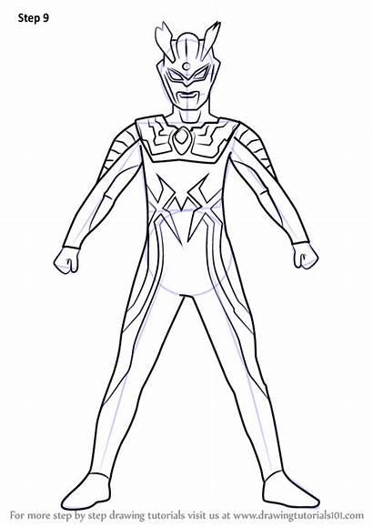 Ultraman Zero Draw Coloring Drawing Gambar Printable