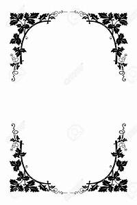 Black And White Flower Borders Pictures to Pin on ...