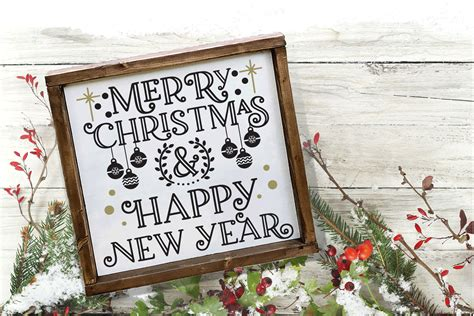 Choose from 29000+ merry christmas graphic resources and download in the form of png, eps merry christmas and happy new year text hand lettering with snow man. Christmas SVG - Merry Christmas and Happy New Year
