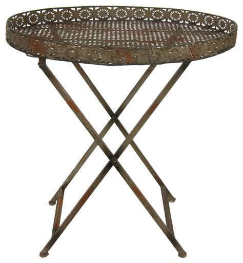 decorative rustic garden tea table rustic outdoor side