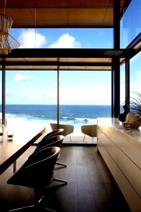 modern beach house  glass front   wonderful sea