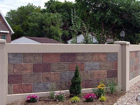 wall fence pictures 1000 images about house fences on pinterest gardens block wall and stone fence