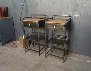 Table De Nuit Metal : table de nuit d 39 hopital ancienne ~ Carolinahurricanesstore.com Idées de Décoration