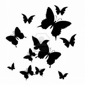 Kleiner Schmetterling Tattoo : silhouette of butterfly on a white background patron tattoo vorlagen libellen vorlagen ~ Frokenaadalensverden.com Haus und Dekorationen