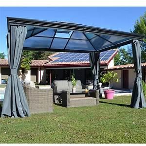 Tonnelle Autoportant : tonnelle autoportante aluminium toit polycarbonate 3x3 6m jade 3 colis gamm vert ~ Farleysfitness.com Idées de Décoration