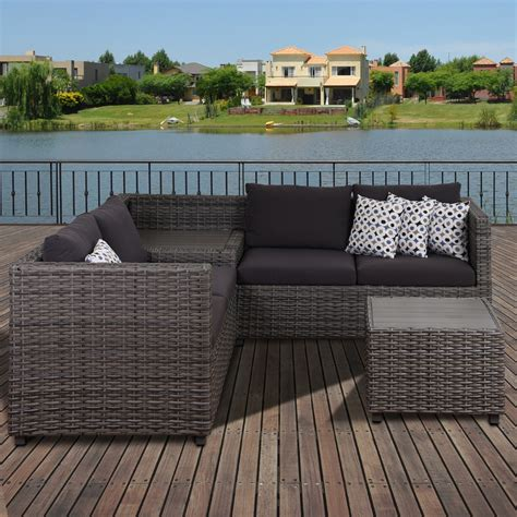 atlantic westin 3 patio sectional set with cushions