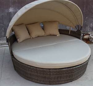 Edinburgh Patio Day Bed Lounger In Grey  U0026 Beige By Bellini