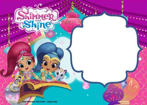 shimmer and shine invitation template free free shimmer and shine invitation template free invitation templates drevio