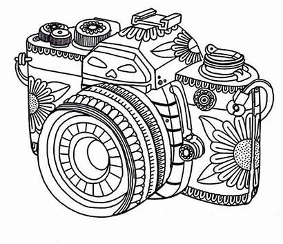 Coloring Pages Printable Adult Camera Sheets Adults