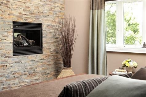 Feature Walls Living Room : Stone Feature Wall With Fireplace