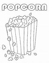 Popcorn Coloring Pages Printable Box Machine Drawing Sweet Template Sheets Popping Bucket Sheet Sketch National Popular Coloringhome Kernel Edit Popcorns sketch template