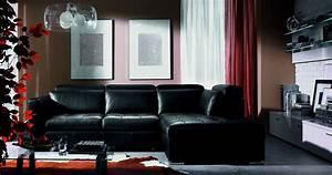 living room decorating ideas black leather sofa With black sofas living room design