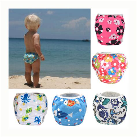 swim diaper wear leakproof reusable adjustable  infant