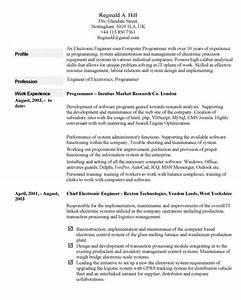 Curriculum vitae example for Curriculum vitae example