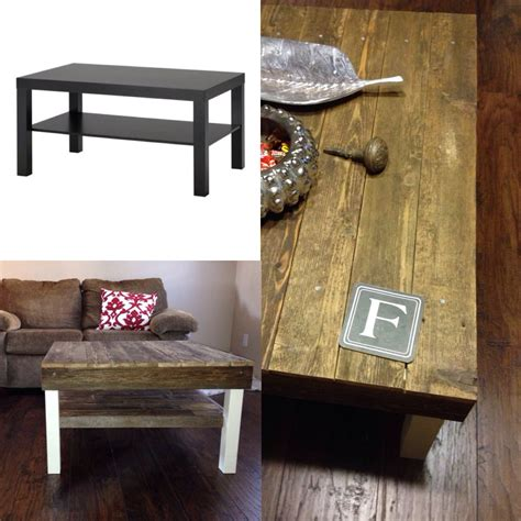 » ikea lack coffee table. Lack ikea coffee table, made more interesting thanks to some old deck boards. (With images ...