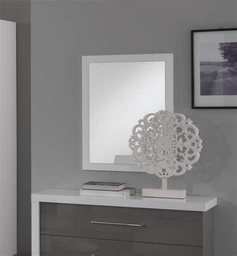 miroir chambre a coucher miroir ancona bicolore laque blanc gris chambre 192 coucher
