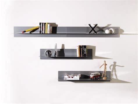 mensola acciaio mensola a muro linea in acciaio 100 cm bianco nero grigio