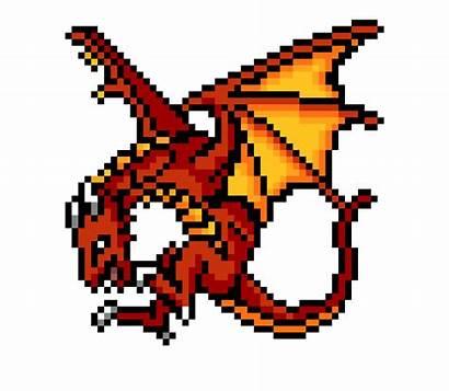 Pixel Dragon Minecraft Dragones Pixelart Pixelados Dibujos