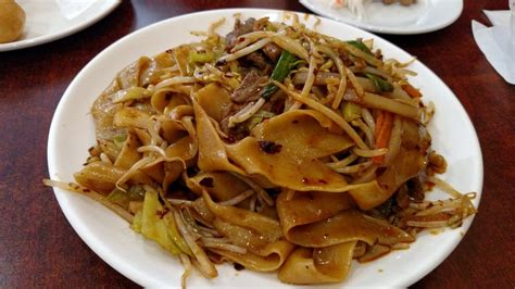 spicy beef  xo sauce   wide flat noodles yelp