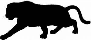 Clipart - Furry Panther Silhouette