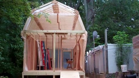 how to build shed trusses construction of project mega shed part 7 building and