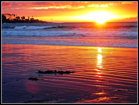 Sunset San Diego Jolla Shores Beach One