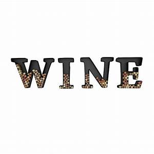 wine letter cork holder art wall decor metal all 4 With letter wine