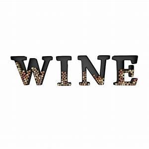 wine letter cork holder art wall decor metal all 4 With wine letter art