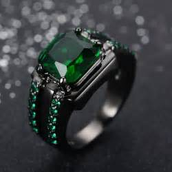 black gold emerald engagement rings buy wholesale mens emerald ring from china mens emerald ring wholesalers aliexpress