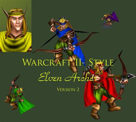 elven archer model image warcraft  mod  warcraft iii frozen throne mod db