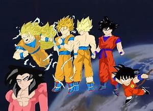 Goku's Evolution 2 by fullmetaljuzz on DeviantArt