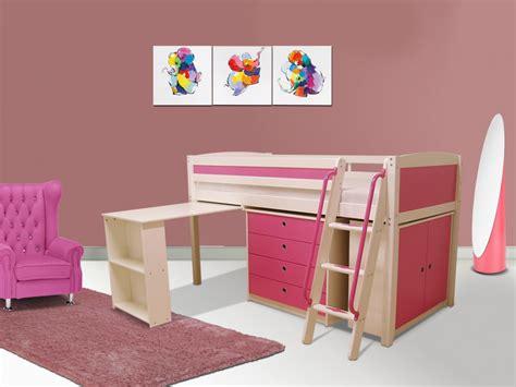 lit superposé combiné bureau lit combiné swann bois commode bureau 90x190 cm