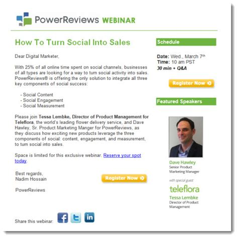 webinar invitations sell  event   product
