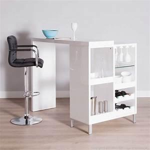 Rangement Mural Cuisine : table de cuisine haute avec rangement table de cuisine ~ Preciouscoupons.com Idées de Décoration