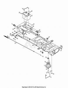 Mtd 13ax935t001  2014  Parts Diagram For Manual Pto  U0026 Battery