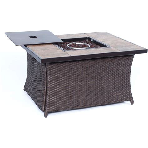 cambridge 36 in 40 000 btu woven fire pit coffee table