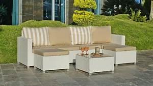 Salon De Jardin Beige : salon de jardin r sine jamaica 6 places avec coussins beige meubles de jardin ~ Teatrodelosmanantiales.com Idées de Décoration
