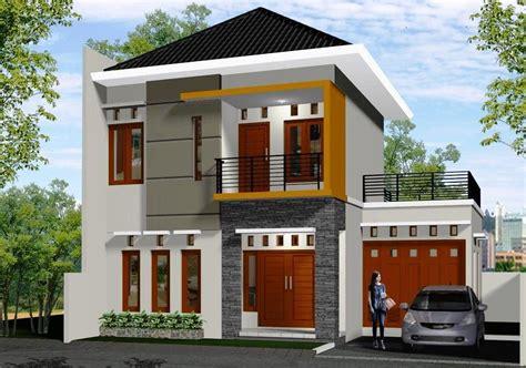 rumah minimalis tampak depan belakang samping