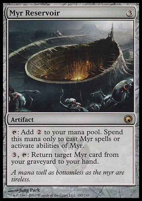myr deck mtg standard myr reservoir som mtg card