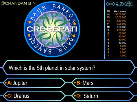 Who Wants To Be A Millionaire Template Game