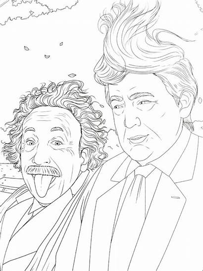 Coloring Donald Trump Pages Hair Trumps President