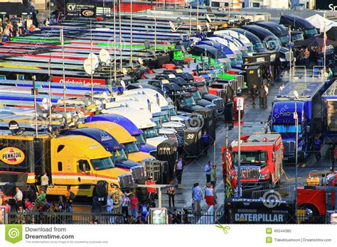 hauler parking  nascar charlotte race
