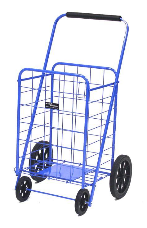 metal basket with handle shopping cart heavy duty reinforced folding