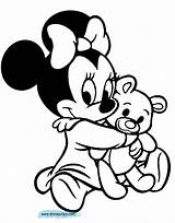 Coloring Pages Mouse Minnie Printable Disney Babies Popular sketch template
