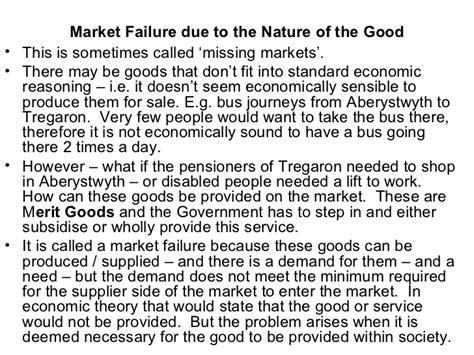 Why Markets Fail