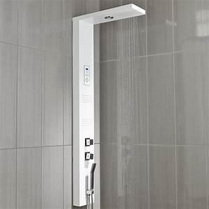 Colonne De Douche En Angle : colonne de douche hydromassante avec robinetterie blanc ~ Edinachiropracticcenter.com Idées de Décoration